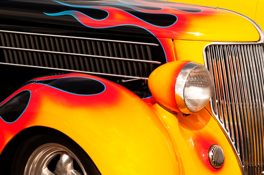 Flames and Chrome Hot Rod