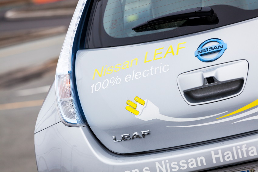 While the Nissan Leaf is 100 per cent electric, its new sister is set to also include a gas engine.