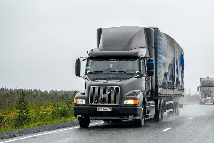 Volvo trucks like this VNL64T are common in the trucking industry