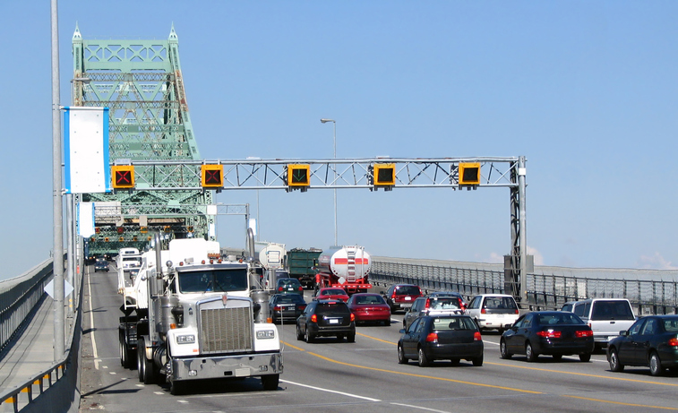 Montreal's bridges bottleneck traffic, making it the most congested Canadian city