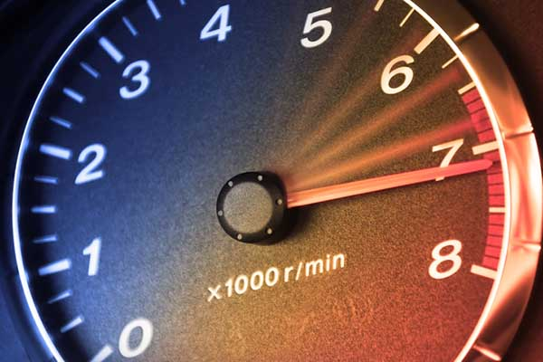 Unusually high RPM readings may indicate a poorly calibrated tachometer