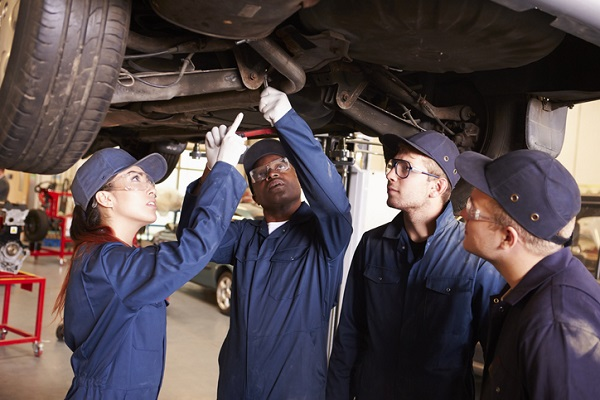 Students at CATI can use their training to safely remove rusted bolts or screws