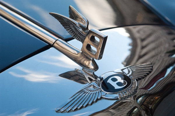 Bentley's distinctive hood ornament has graced its cars for a long time