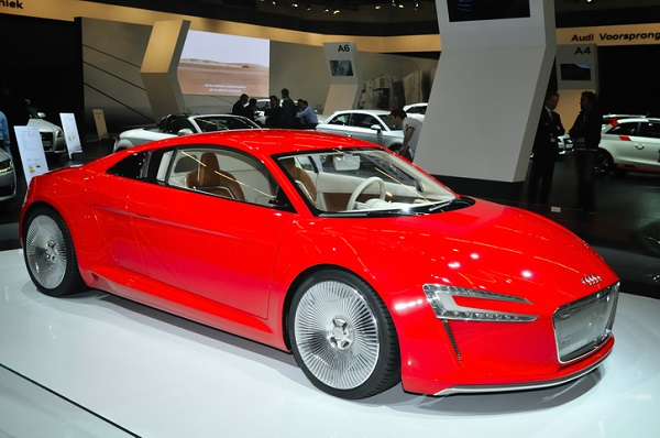 Regenerative brakes are most common in electric vehicles, like the Audi E-tron