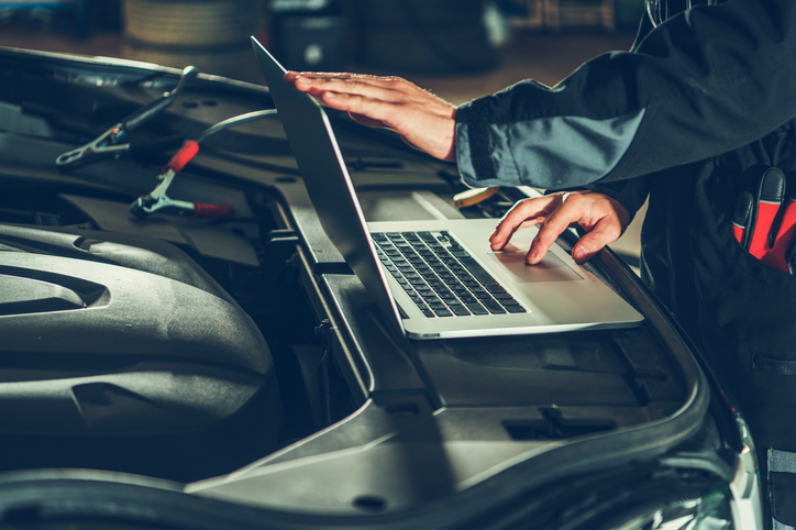 Laptops and iPads could be increasingly regular tools in a mechanic's job.