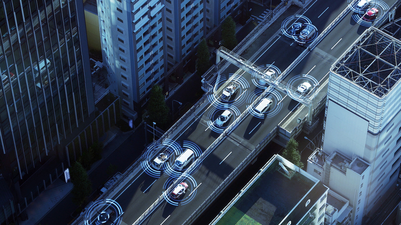 Future cars could also connect with other vehicles on the road