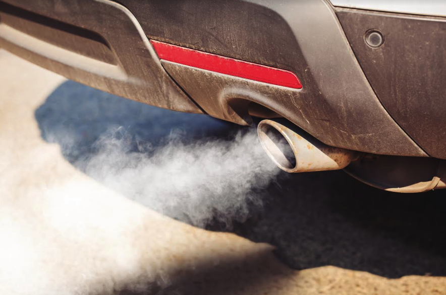 A hole in a muffler can result in carbon monoxide being released into the environment