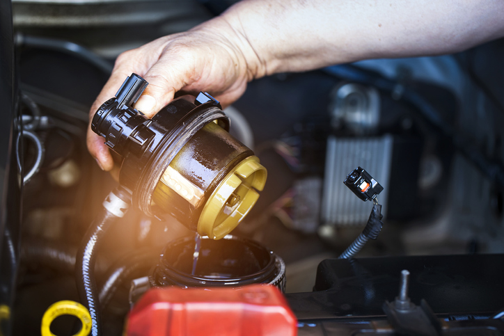When removing water from a vehicle's gas tank, it's important to replace the fuel filter