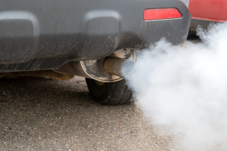 White smoke coming from the exhaust can be a sign that water is present in the gas tank